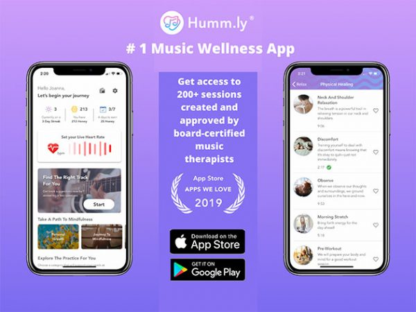 HIT1MILLION-Humm.ly – Live Better with Music App: Lifetime Subscription for $39