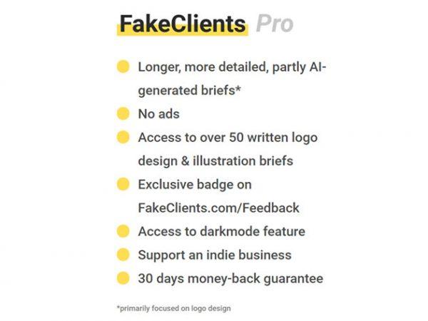 HIT1MILLION-FakeClients Design Brief Generator: Lifetime Subscription for $19