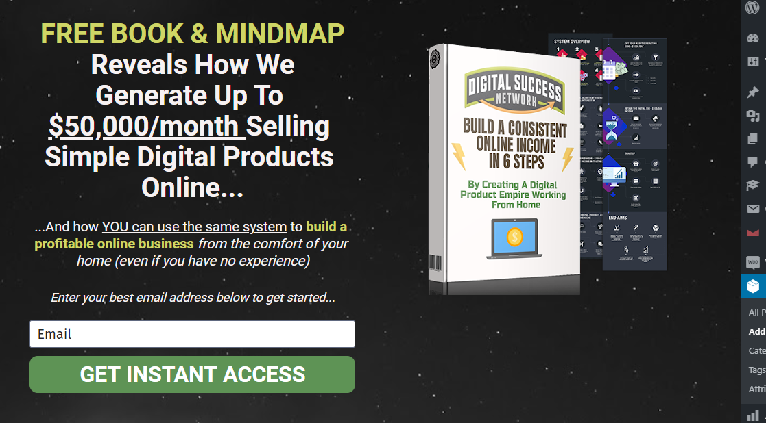 HIT 1 MILLION Digital Success Network signup form