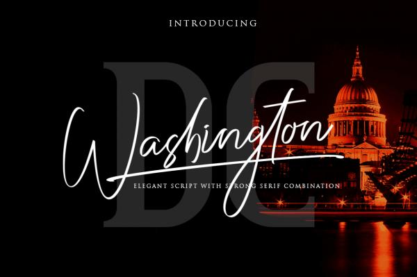 HIT1MILLION-Washington DC / Elegant Font Duo – only $5!