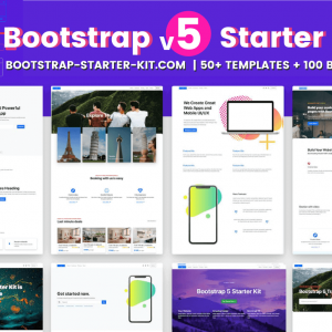 HIT1MILLION-Bootstrap v5 Starter Kit Pro: 50+ Templates and 100 Blocks – only $17!