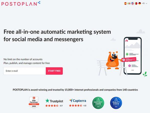 HIT1MILLION-Postoplan Social Media Automation: Lifetime Subscription for $99