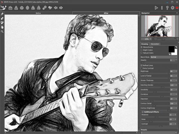 HIT1MILLION-Akvis Draw Pencil Sketch Software: Lifetime License for $58