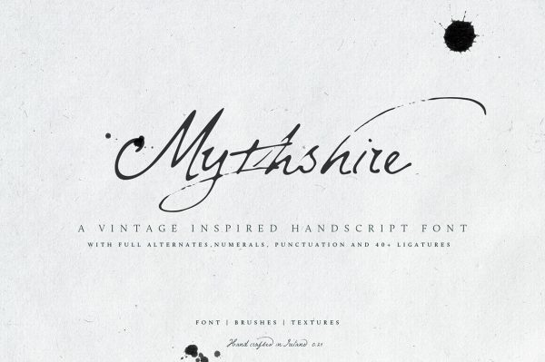HIT1MILLION-Mythshire Vintage Script + Extras – only $5!