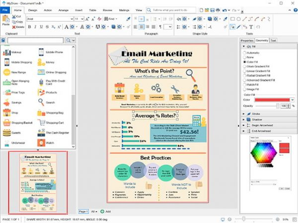HIT1MILLION-MyDraw Advance Diagramming Software: Lifetime License for $33