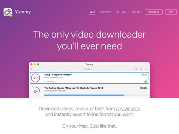 HIT1MILLION-Yummy Video Downloader for Mac: Lifetime Subscription for $9